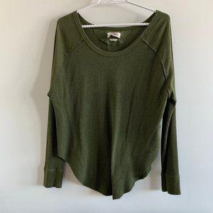 Tna Thermal Long-sleeve waffle-knit shirt